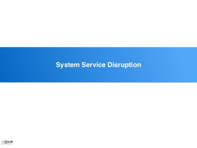 ssSystem Service Disruption