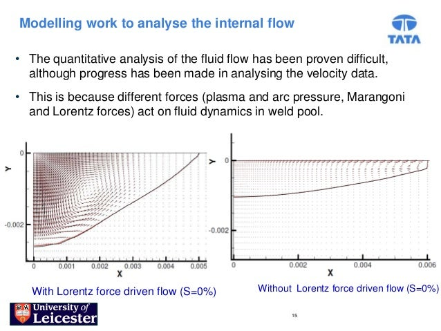 Modelling work to analyse the internal flow• The quantitative analysis of the fluid flow has been proven difficult,  altho...