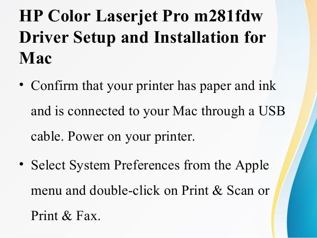 HP HP Color Laserjet Pro m281fdw Driver Download and