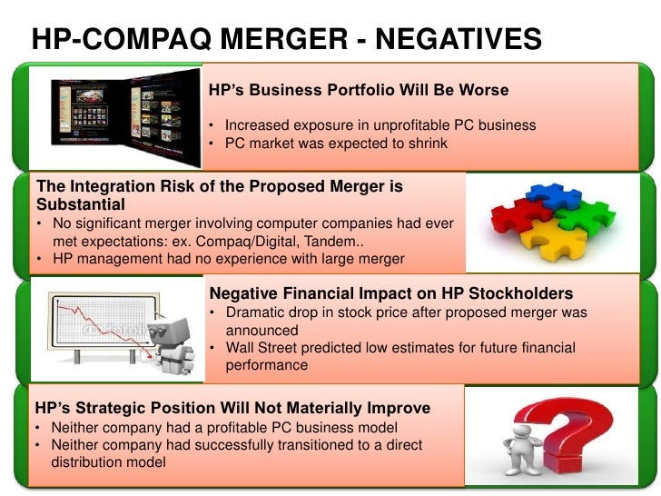 compaq strategic analysis Qualitative analysis of coordinated effects in the hp-compaq merger is essential in understanding the formation of the merger that took place between both companies in order to coordinate firms that are looking into merging should be able to come to an agreement which is not always easy as products in both firms are complex and differentiated.