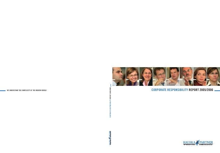 CORPORATE RESPONSIBILITY REPORT 2005/2006