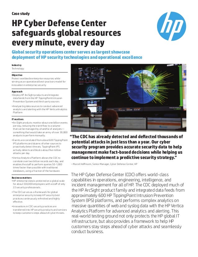 Hp cyber defence center