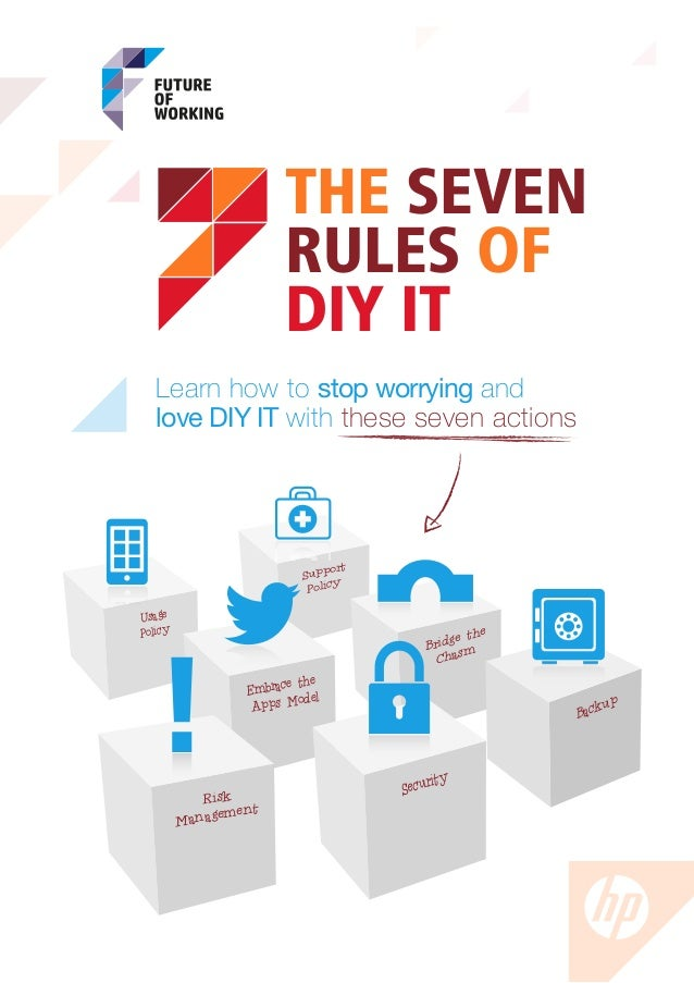 THE SEVEN                       RULES OF                       DIY IT   Learn how to stop worrying and   love DIY IT with ...