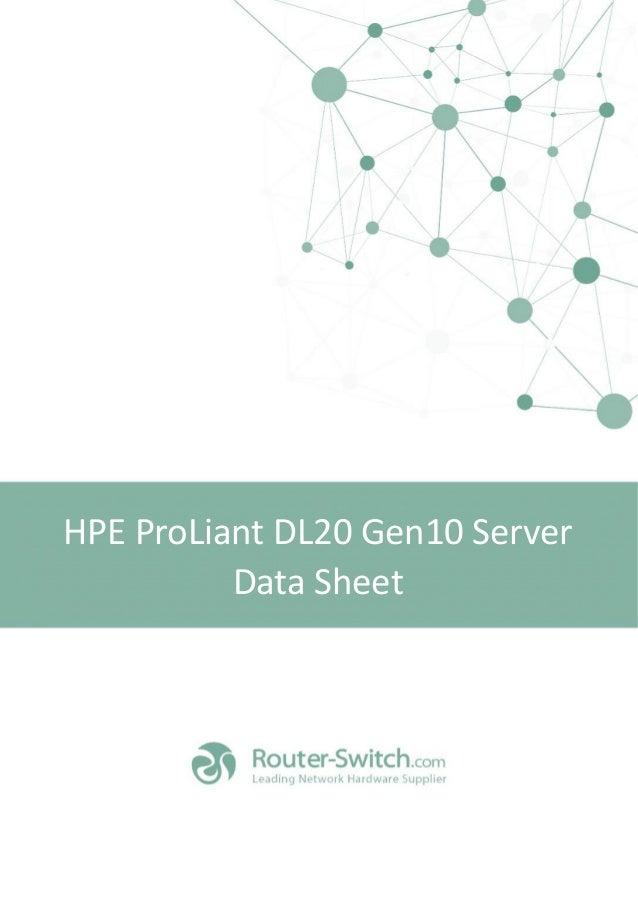 Hpe Proliant DL20 Gen10 Server Datasheet