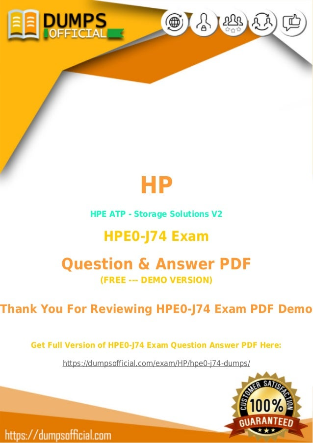 HP HPE0-J74 Exam Questions & Answers To Pass Your HPE0-J74 Exam