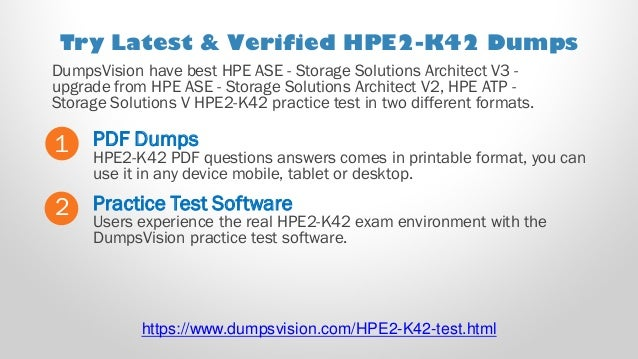 Designing HPE Nimble Solutions HPE2-K42 Exam questions answers and simulator