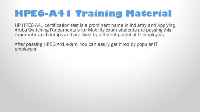 HP Applying Aruba Switching Fundamentals for Mobility HPE2-Z39 Exam Q/&A PDF+SIM