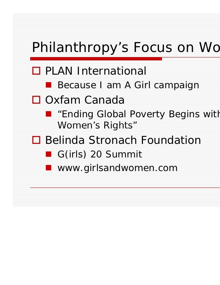 Women and Philanthropy in Canada