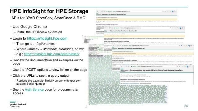 Array - hpe hpe infosight for 3par quickstart v1 4  rh   slideshare net