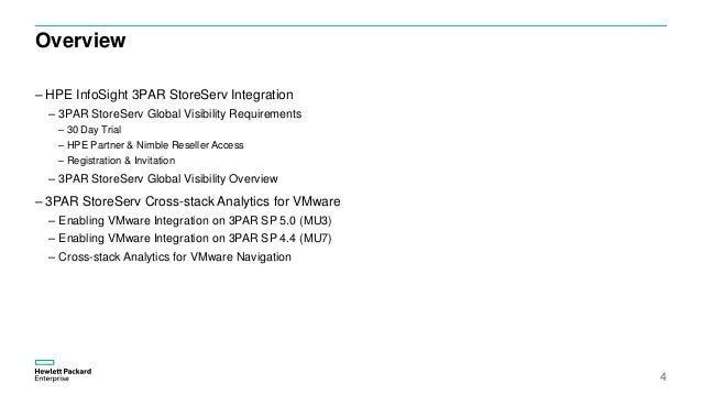 HPE HPE InfoSight for 3PAR quickstart v1 4