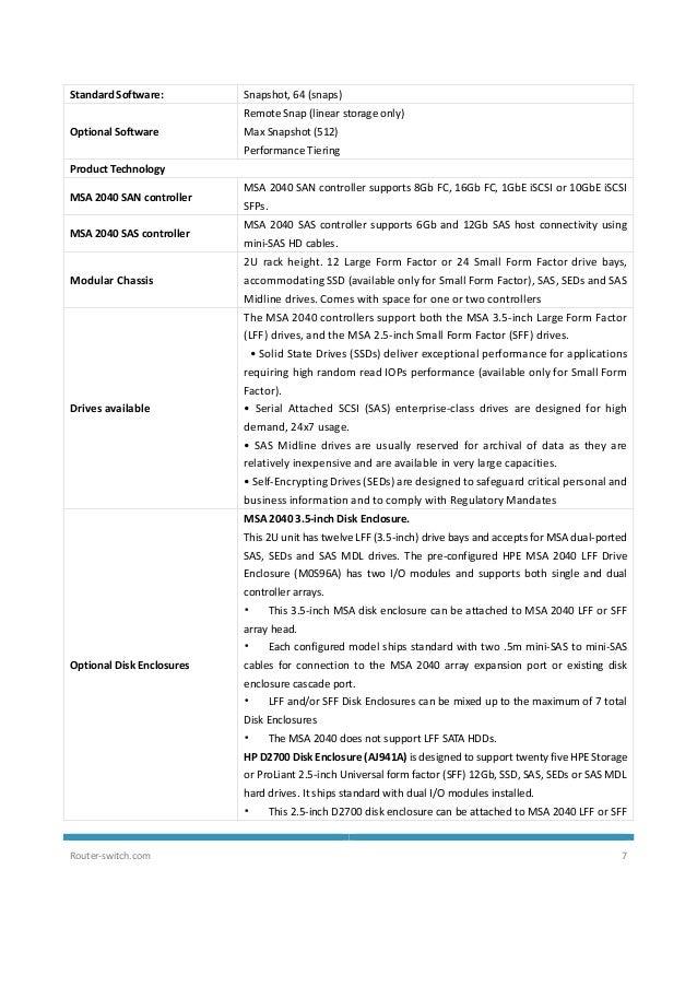 Hpe MSA 2040 Storage Datasheet