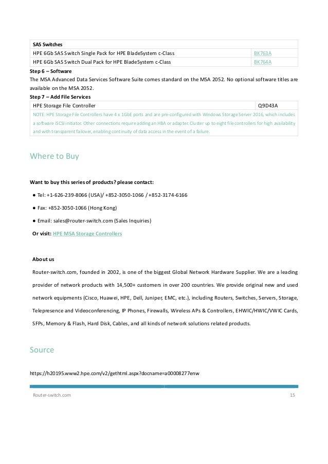 Hpe MSA 2052 Storage Datasheet