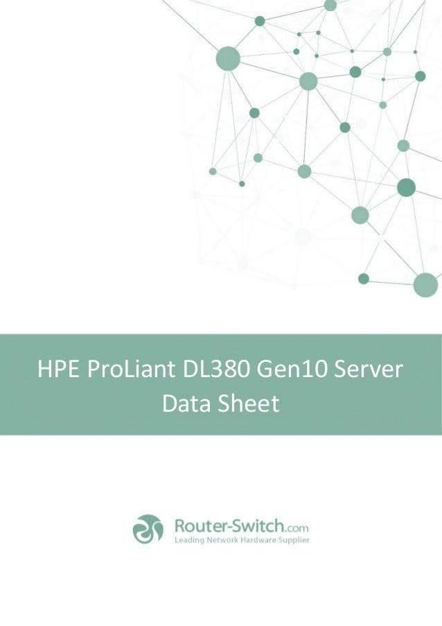HPE ProLiant DL380 Gen10 Server Data Sheet