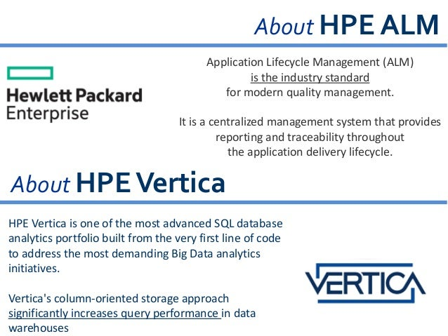 Leveraging HPE ALM & QuerySurge to test HPE Vertica