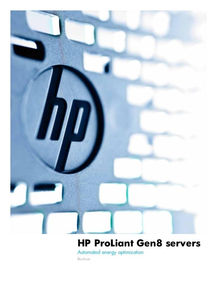 HP ProLiant Gen8 serversAutomated energy optimizationBrochure