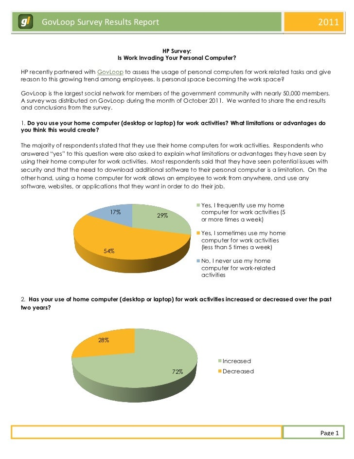 GovLoop Survey Results Report                                                                      2011                   ...