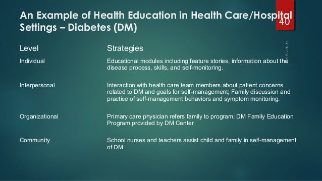 Introduction to health education and health promotion part 2.
