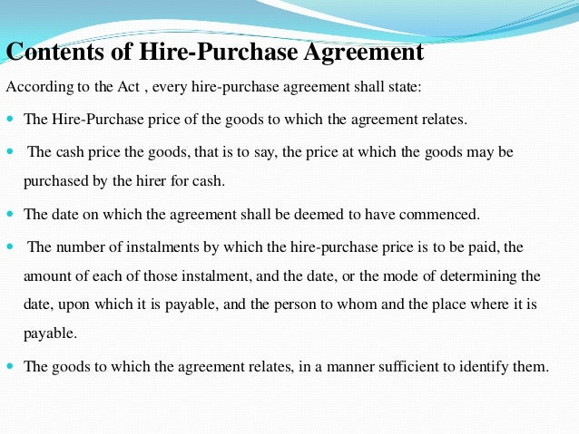 Hphire purchase 12 contents of hire purchase agreement platinumwayz