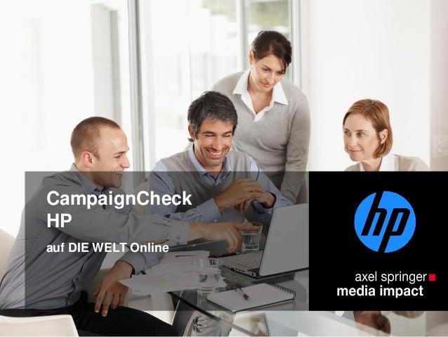 CampaignCheck HP auf DIE WELT Online