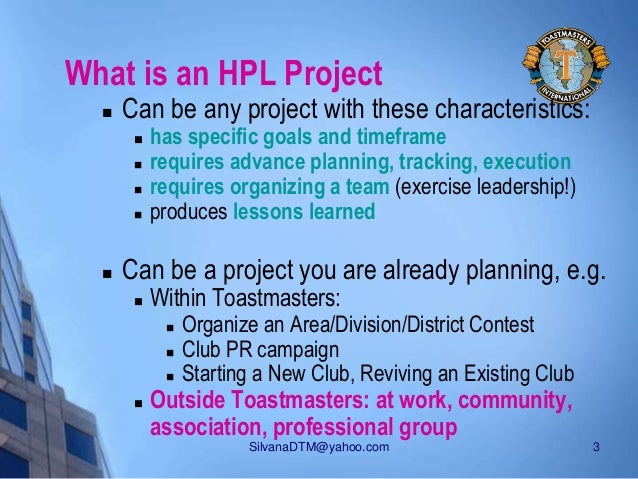 HPL - The High Performance Leadership Project Slide 3