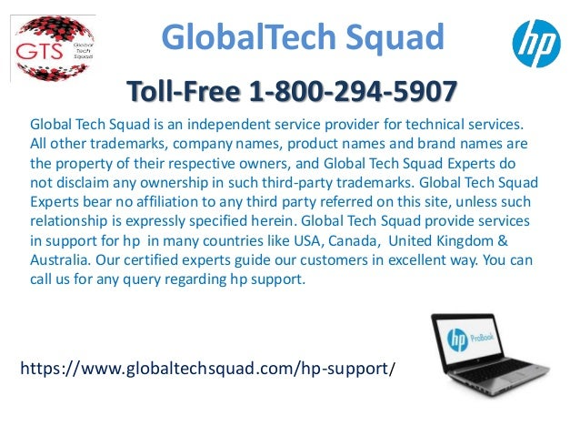 Global Tech Squad is an independent service provider for technical services. All other trademarks, company names, product ...