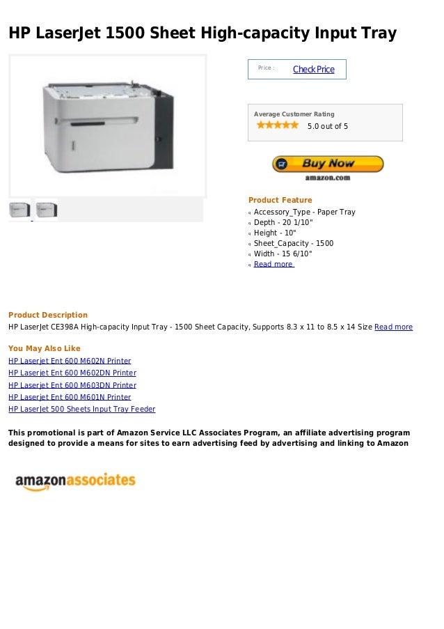 HP LaserJet 1500 Sheet High-capacity Input Tray                                                                      Price...