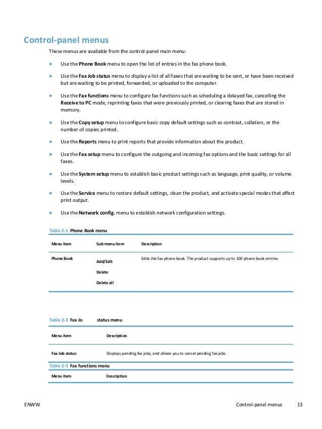 hp laserjet 1536dnf mfp user guide