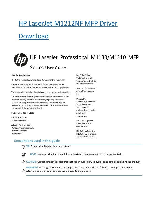 hp laser jet m1212nf mfp driver download and user guide rh slideshare net laserjet m1212nf mfp driver inf laserjet m1212nf mfp manual español
