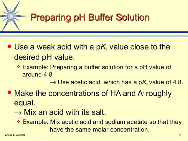 preparation of solutions and buffers Solutions prepare a solution chemical compound molecular weight g/mol  molarity required m, mm, μm, nm, pm, fm volume required l, ml, μl, nl, pl,  fl.