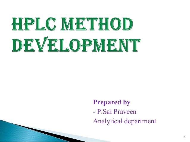 Dissertation analytical method development by hplc