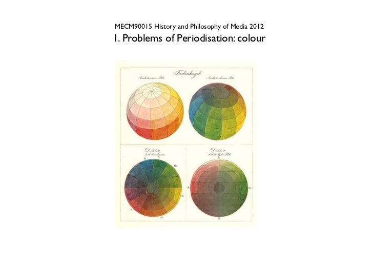 MECM90015 History and Philosophy of Media 20121. Problems of Periodisation: colour