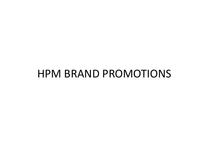 HPM BRAND PROMOTIONS
