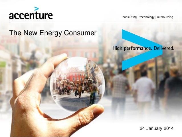 The New Energy Consumer  24 January 2014