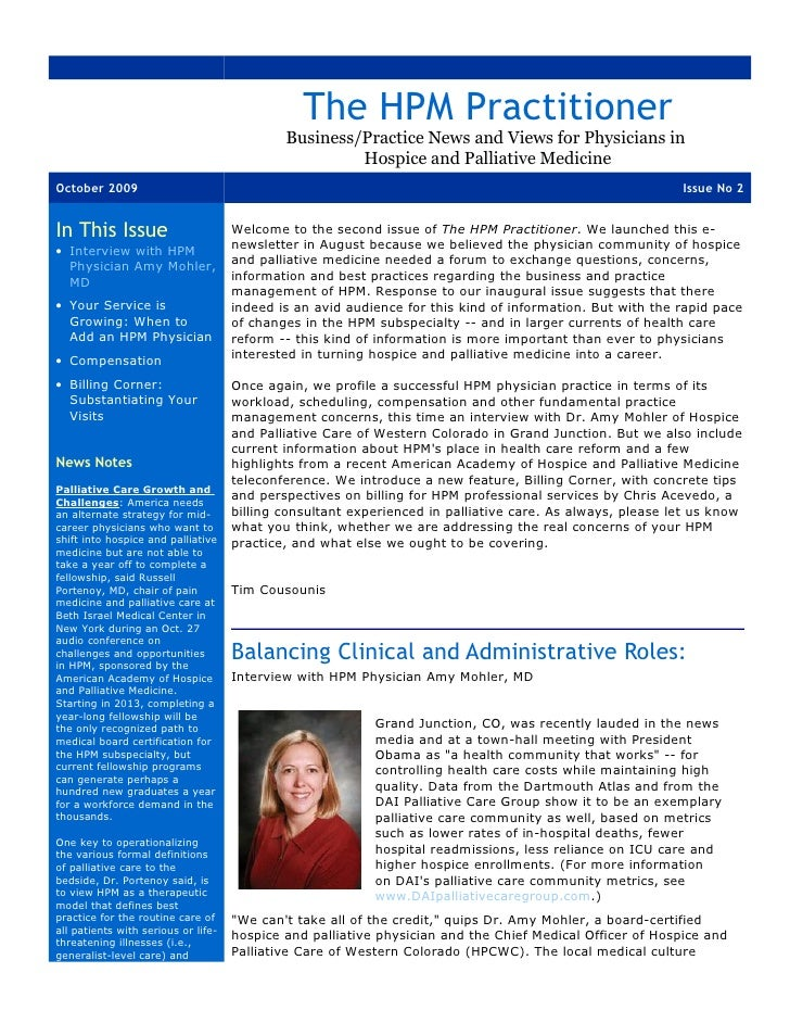 The HPM Practitioner                                              Business/Practice News and Views for Physicians in      ...
