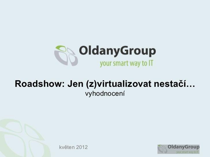 Roadshow: Jen (z)virtualizovat nestačí…                   vyhodnocení         květen 2012
