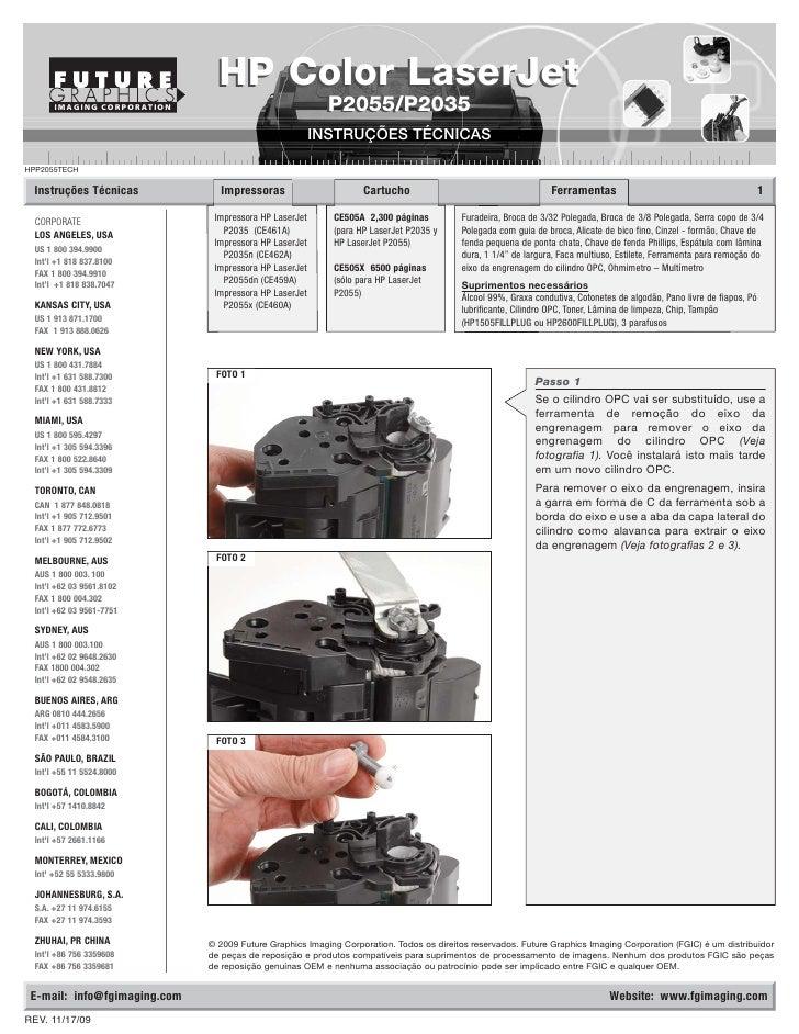 HP Color LaserJet        IMAGING CORPORATION                               P2055/P2035                                    ...