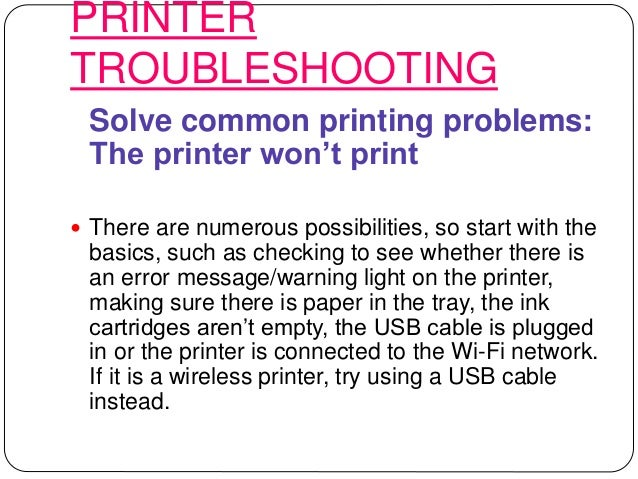 Hp printer | laptop troubleshooting steps | technical