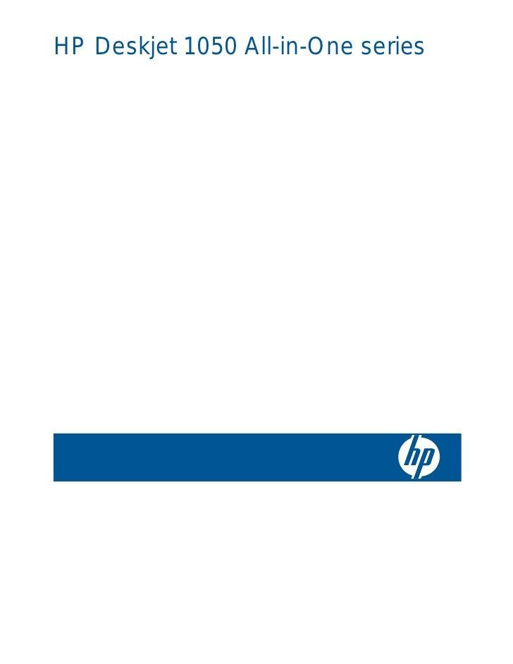 HP Deskjet 1050 All-in-One series