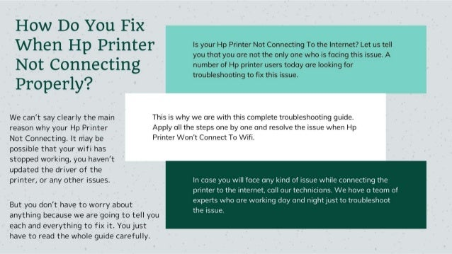 Why Hp Printer Not Connecting to Internet 1-8009837116 Fix Now Slide 2