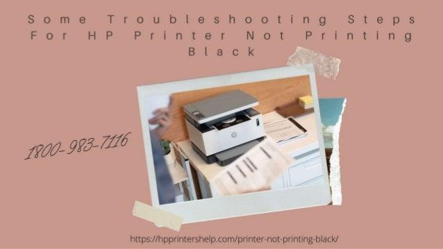 Why HP Printer Not Printing Black 1-8009837116 Hp Printhead Problem -Call Now