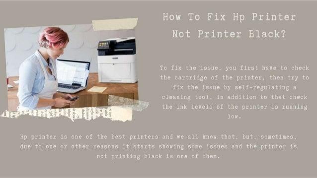 Why HP Printer Not Printing Black 1-8009837116 Hp Printhead Problem -Call Now Slide 3