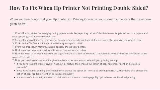 Why Hp Printer Not Printing Double Sided 1-8009837116 How Can I Fix? Slide 2
