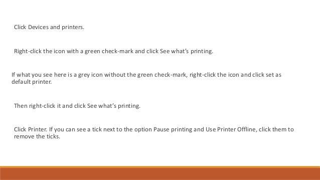 Hp printer offline solution check printing status