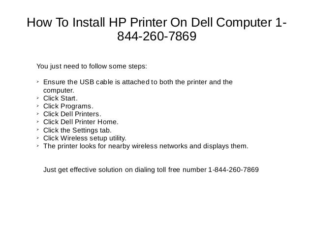 1-844-260-7869 how to connect wireless hp printer to laptop