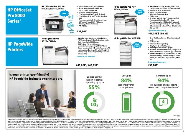 Hp printer September range brochure