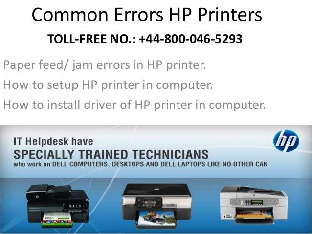 ... 2. Common Errors HP Printers ...