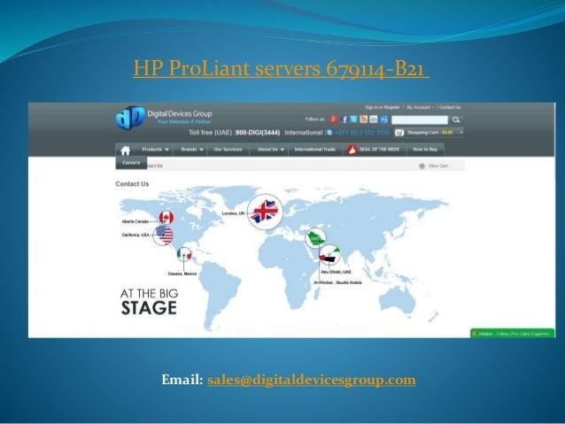 HP ProLiant servers 679114-B21  Email: sales@digitaldevicesgroup.com