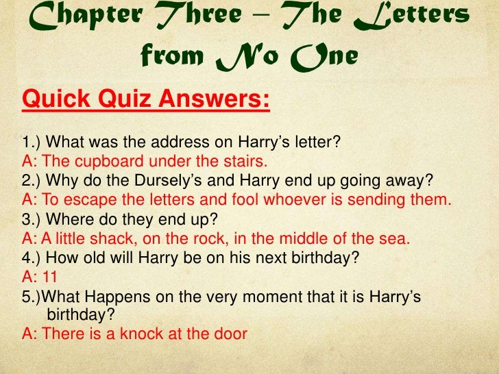 Harry Potter Book 1 Quick Quizzes and Do Now Tasks