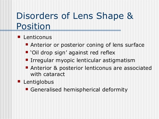 Disorders Of The Crystalline Lens