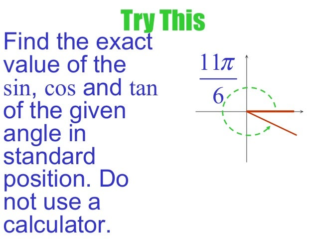 how to find the exact value of tan60 with calculator